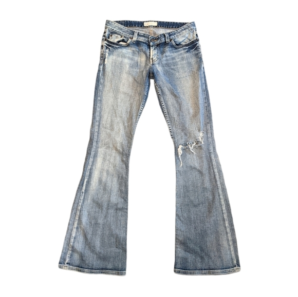 BKE Star Stretch Destroyed Flare Jeans 29X33.5